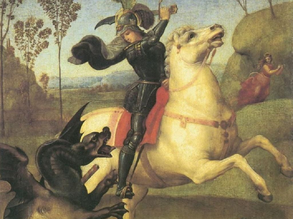 Artistic Wallpaper: Raphael - St George and the Dragon