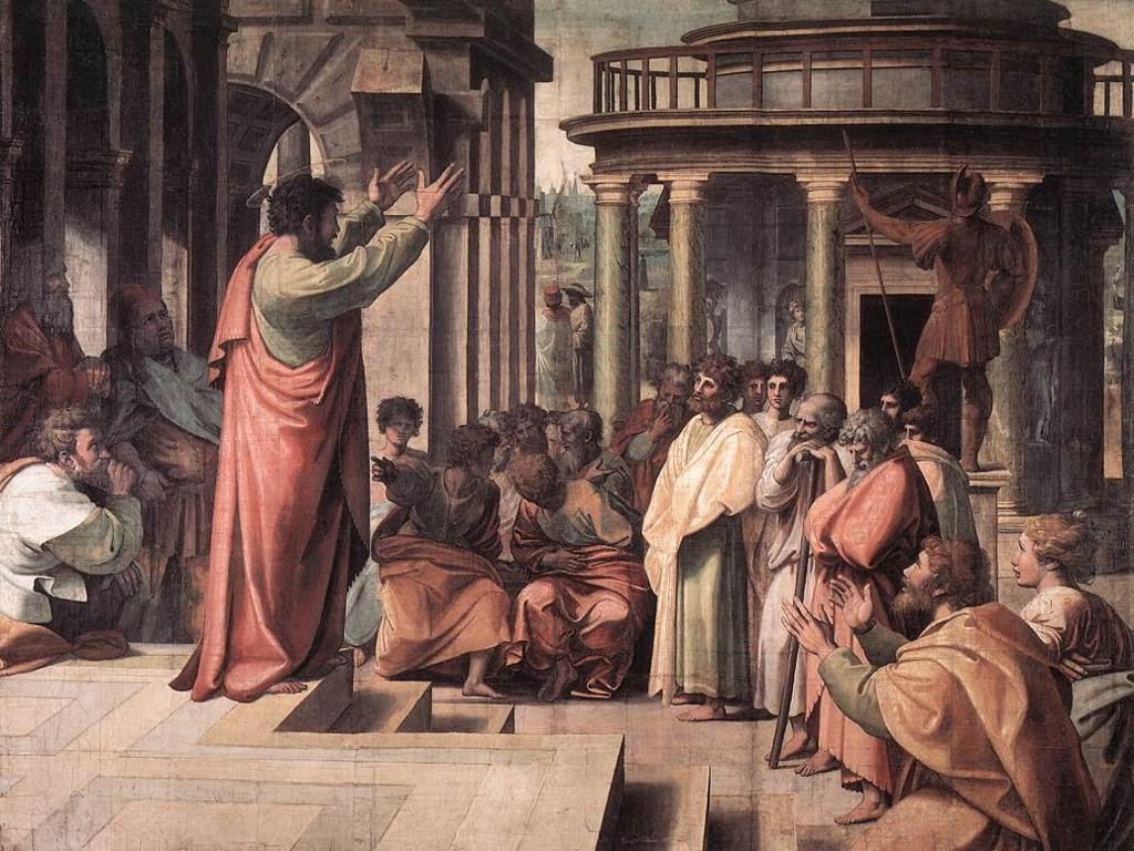Artistic Wallpaper: Raphael - St. Paul Preaching in Athens