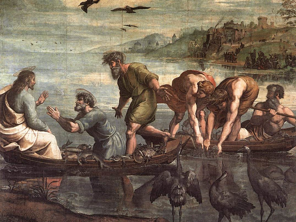 Artistic Wallpaper: Raphael - The Miraculous Draught of Fishes