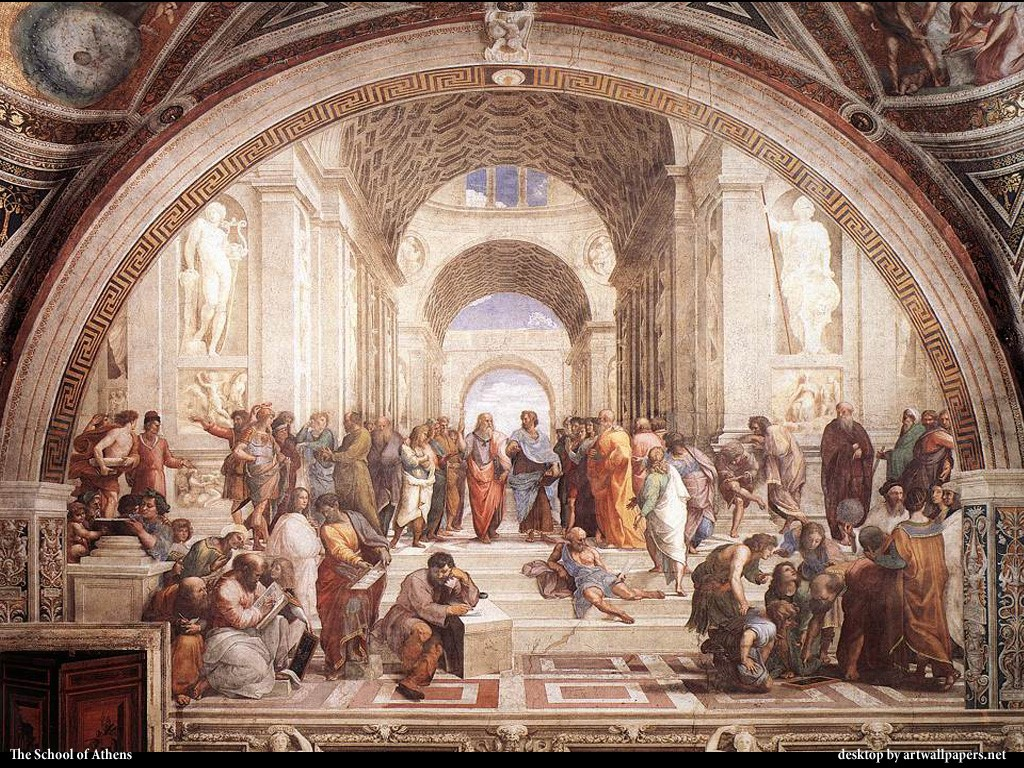 Artistic Wallpaper: Raphael - The School of Athens