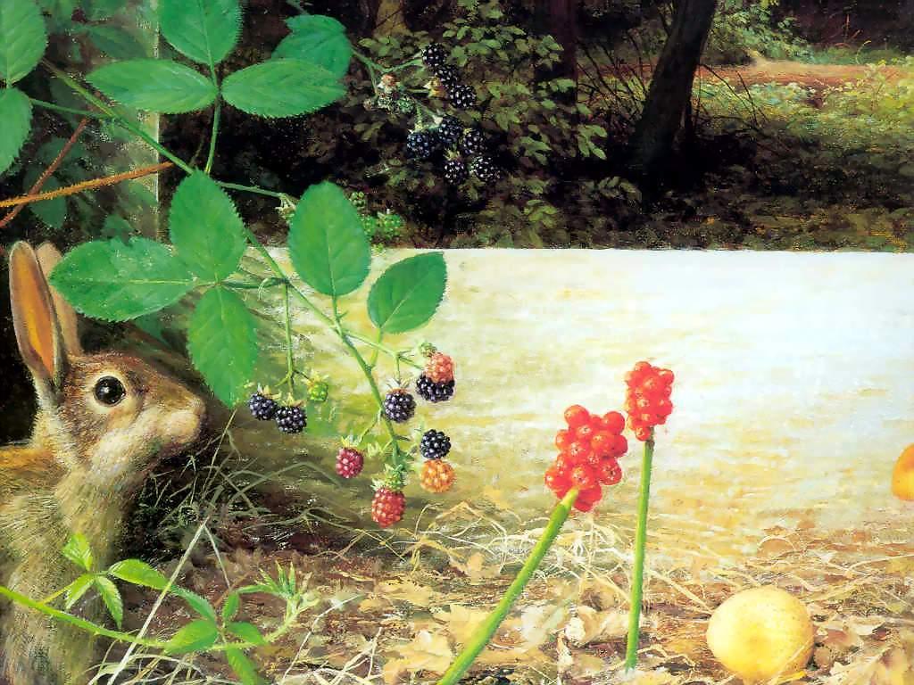 Artistic Wallpaper: Raymond Booth - An Artist's Garden