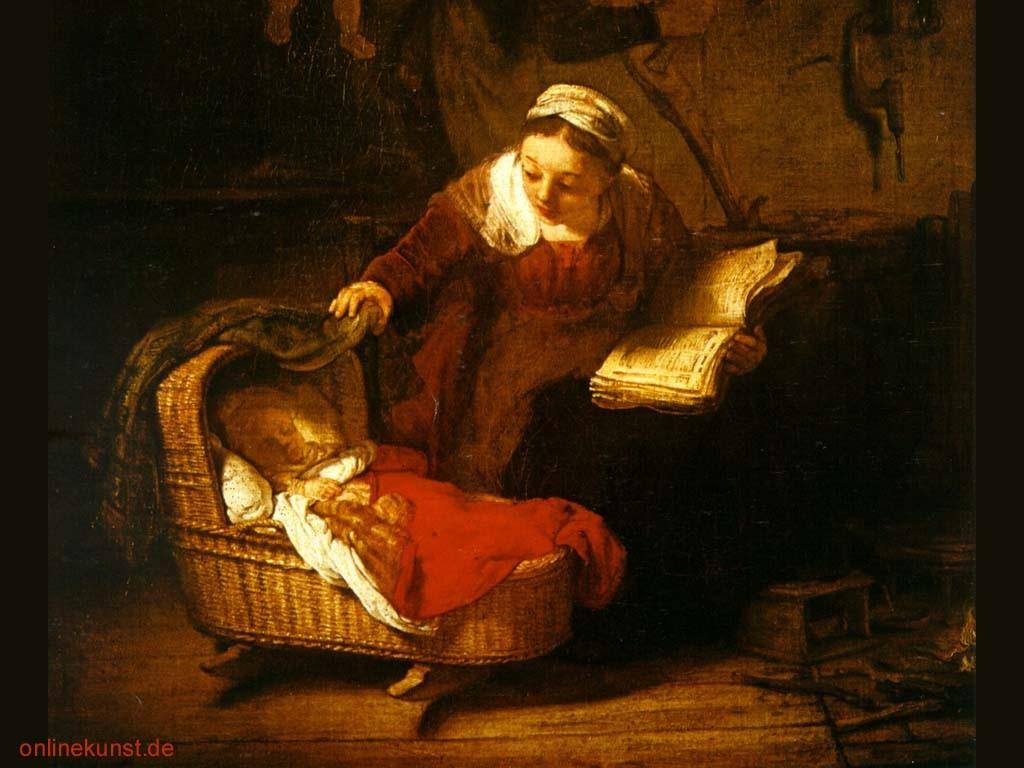 Papel de Parede Gratuito de Artes : Rembrandt - Heiligen Familie