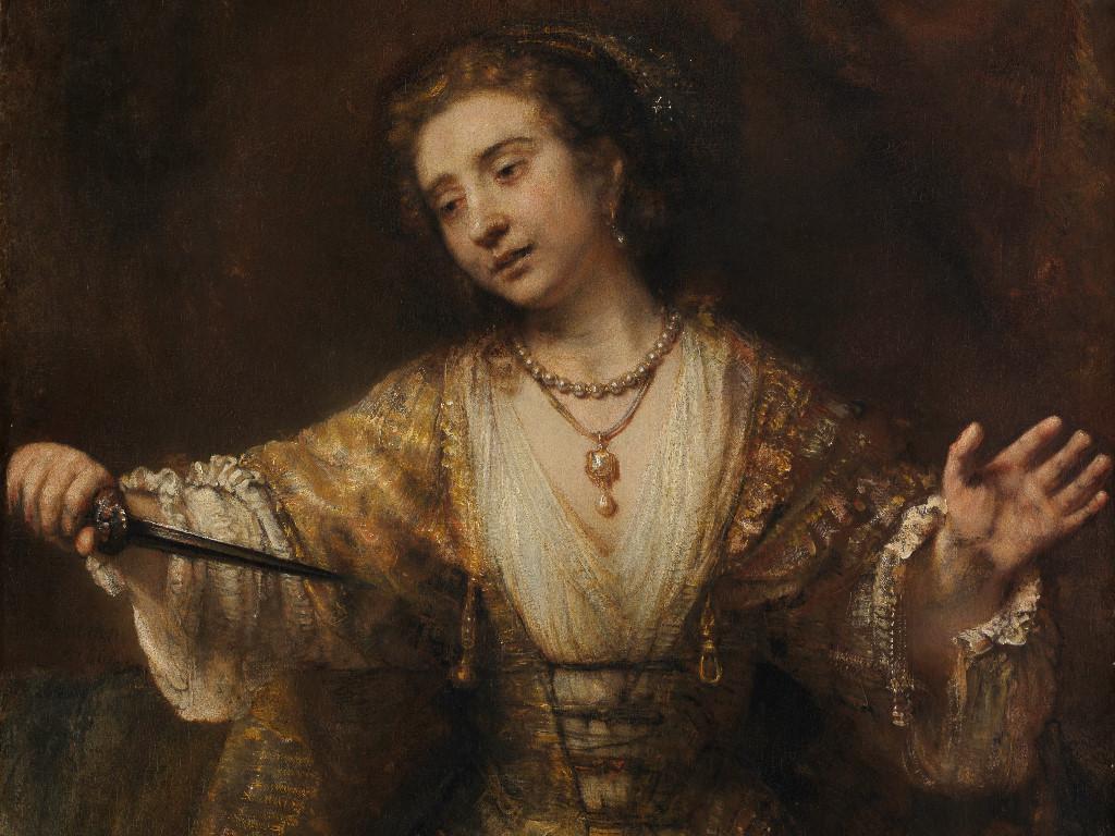 Artistic Wallpaper: Rembrandt - Lucretia
