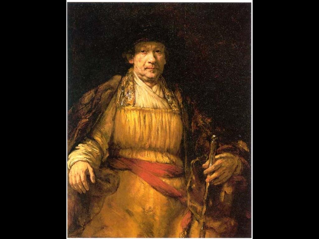 Artistic Wallpaper: Rembrandt - Self Portrait King