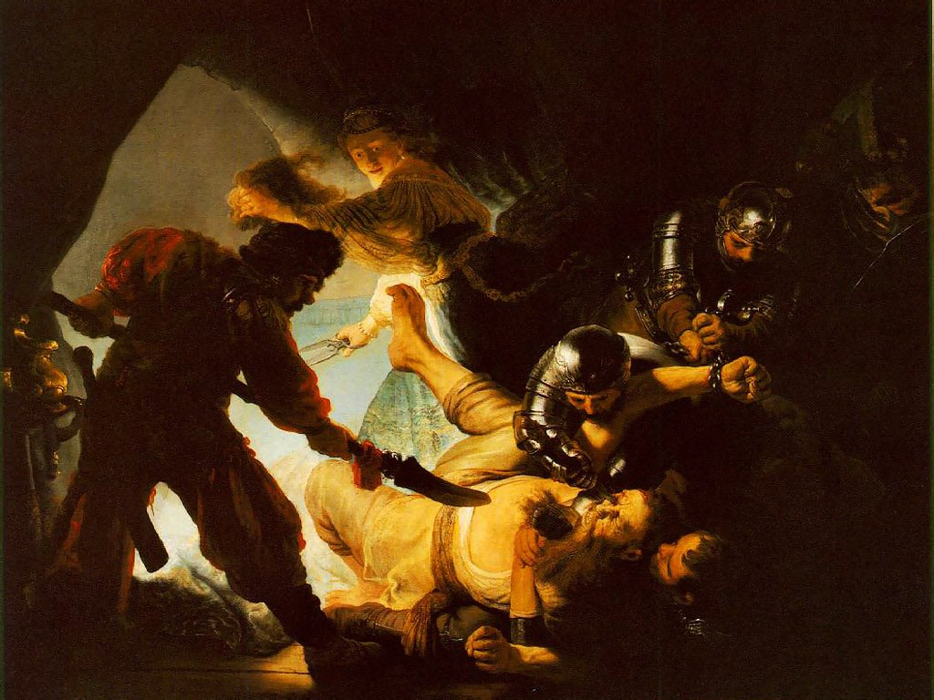 Artistic Wallpaper: Rembrandt - The Blinding of Samson