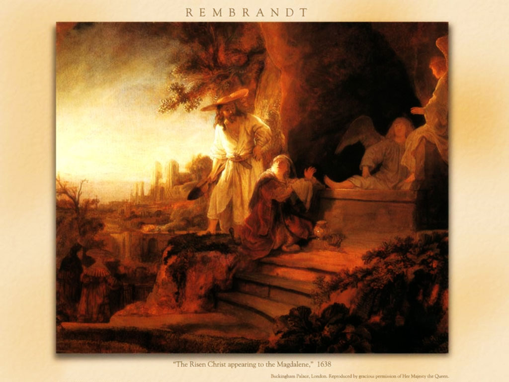 Artistic Wallpaper: Rembrandt - The Risen Christ