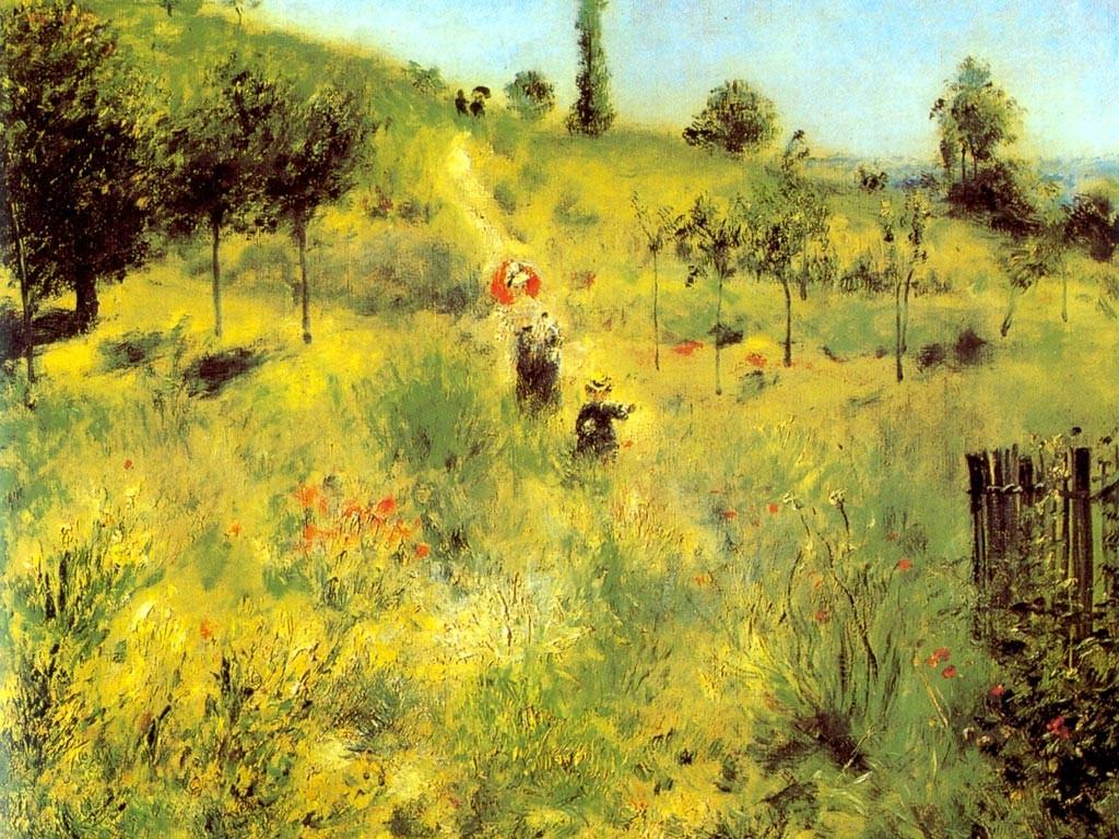Artistic Wallpaper: Renoir - Chemin Montant