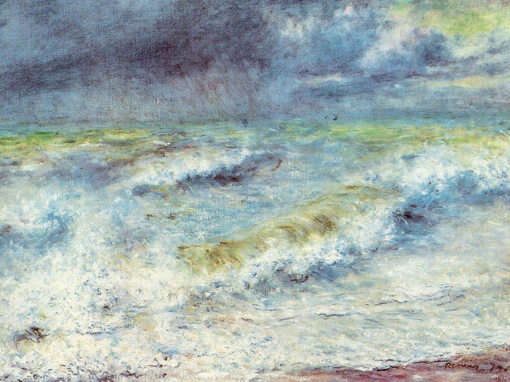 Artistic Wallpaper: Renoir - La Vague