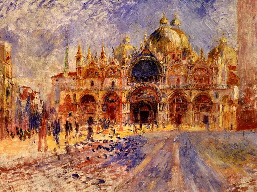 Papel de Parede Gratuito de Artes : Renoir - Piazza San Marco