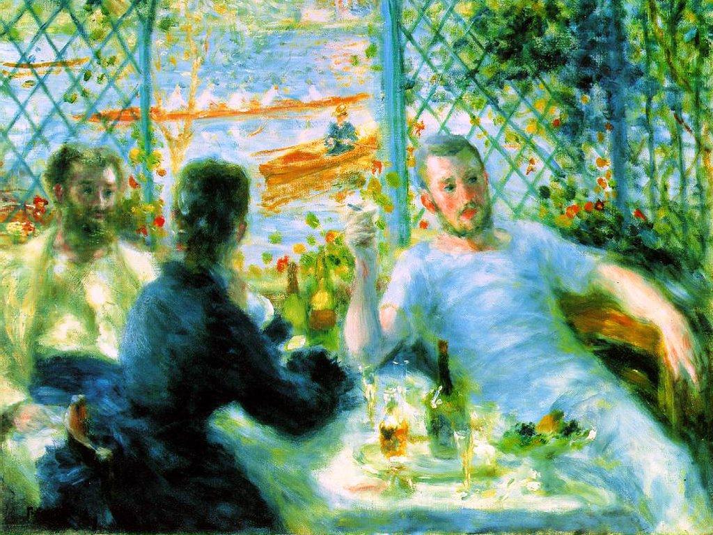 Artistic Wallpaper: Renoir - The Canoeist's Luncheon