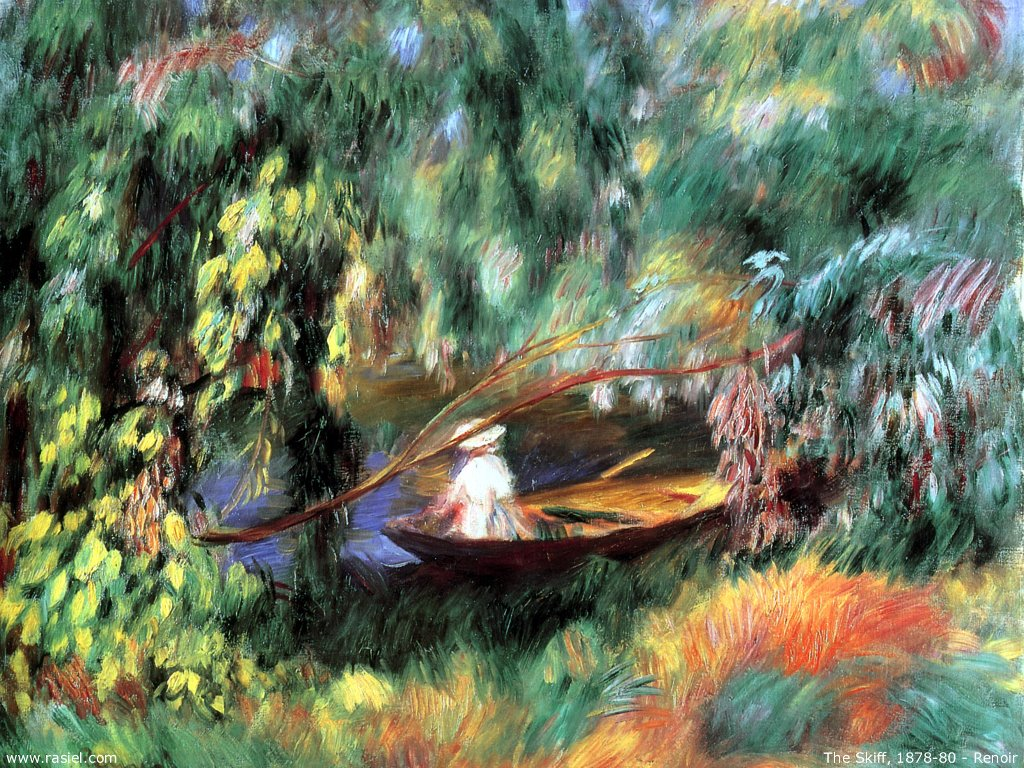 Artistic Wallpaper: Renoir - The Skiff