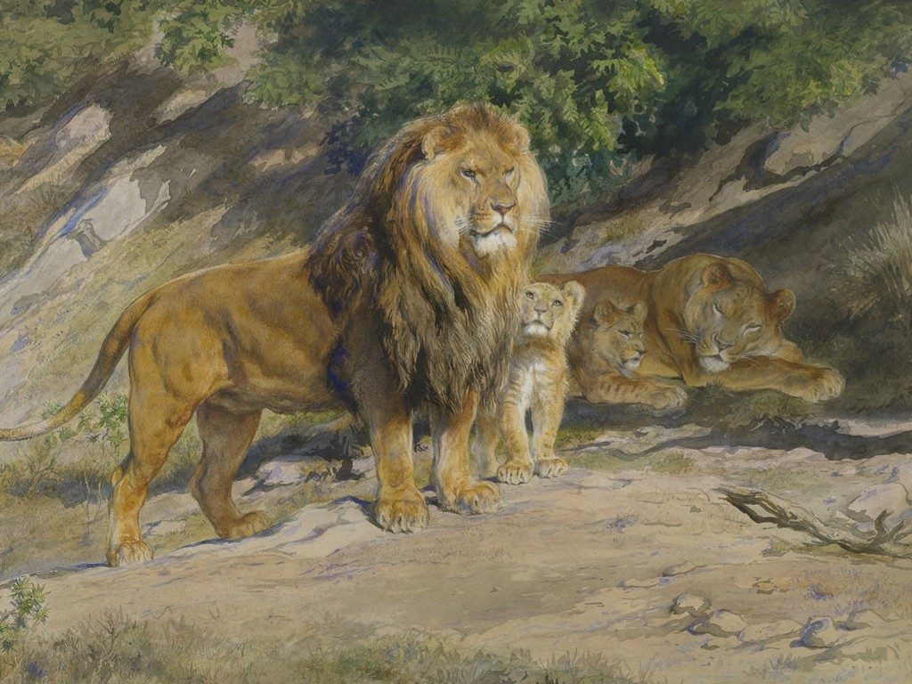 Artistic Wallpaper: Rosa Bonheur - The King Watches