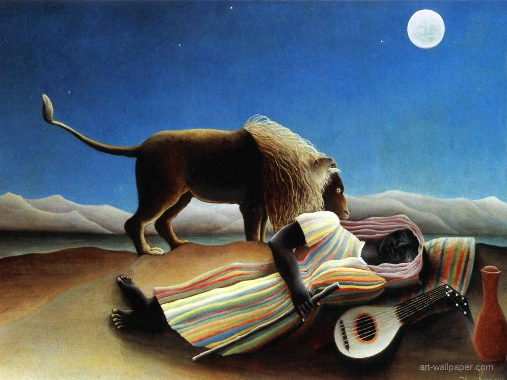 Artistic Wallpaper: Rousseau - The Sleeping Gypsy
