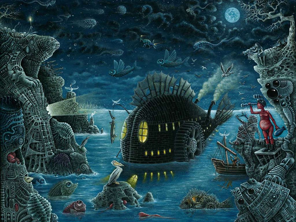 Artistic Wallpaper: R.S. Connett - Night Trawler
