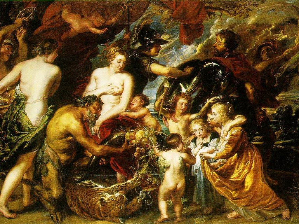 Artistic Wallpaper: Rubens - Allegory on the Blessings of Peace