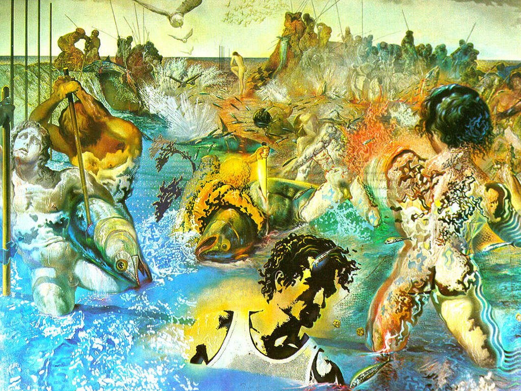Artistic Wallpaper: Salvador Dali - Tuna Fishing