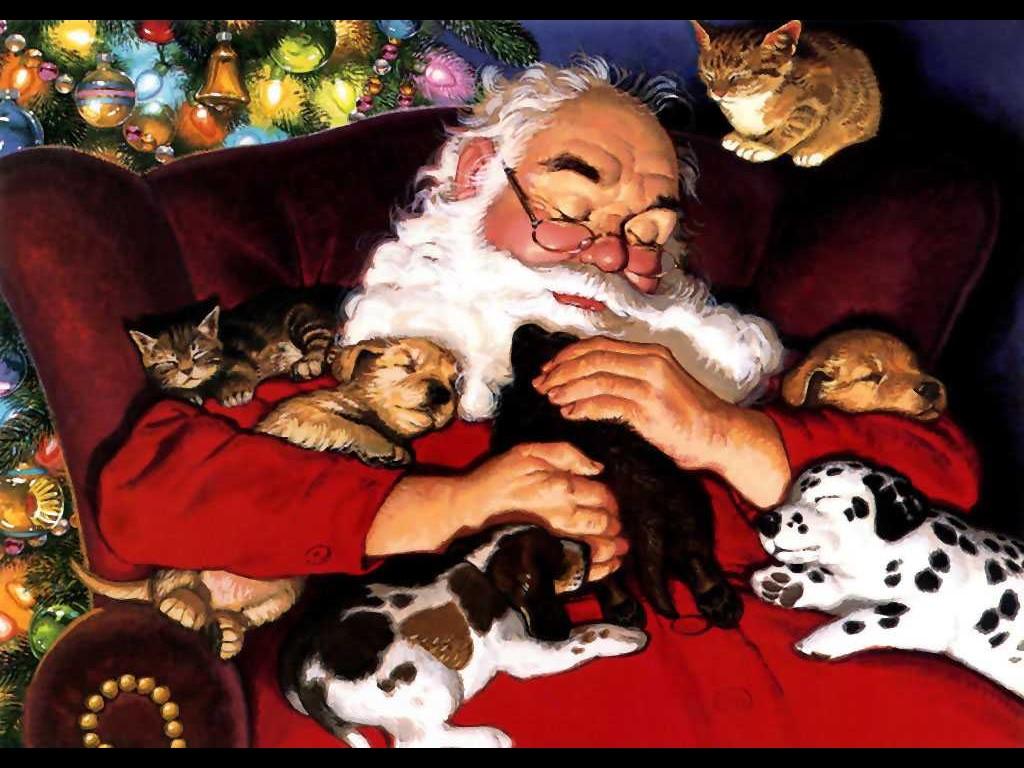 Artistic Wallpaper: Santa Claus - Napping