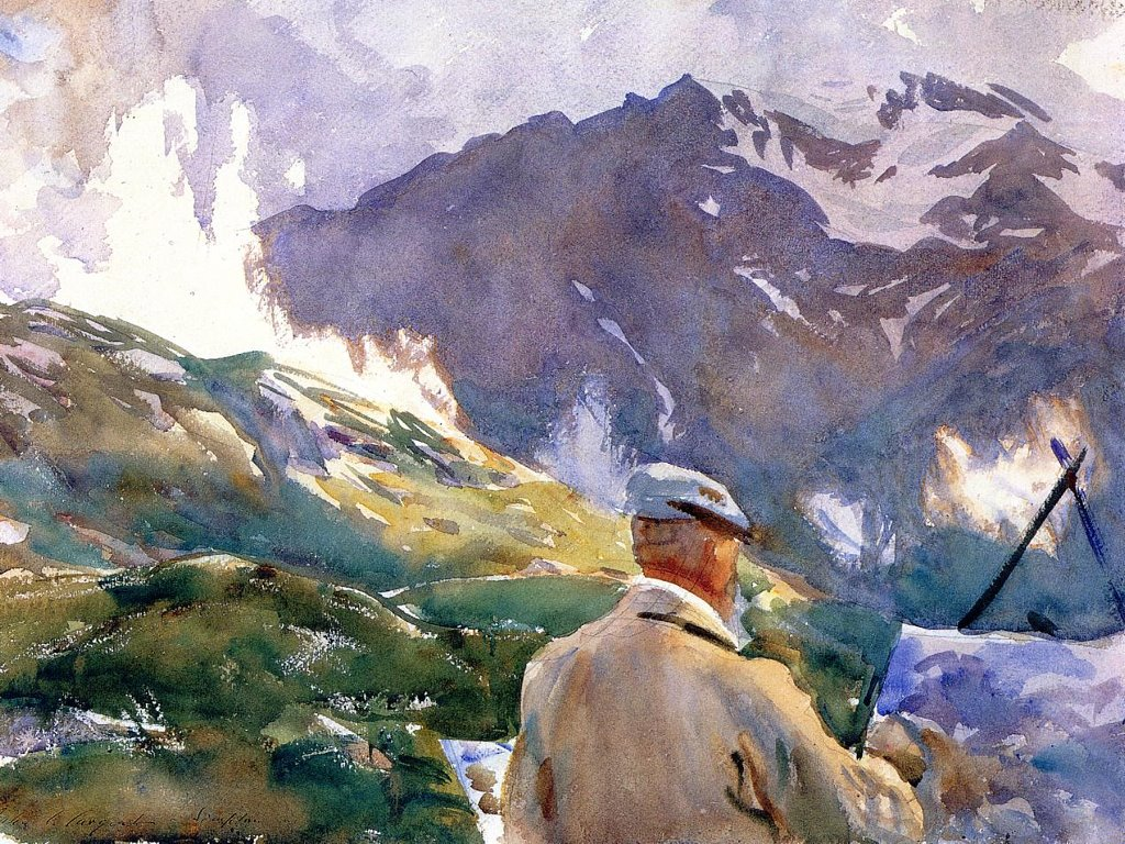 Artistic Wallpaper: Sargent - Artist in Simplon