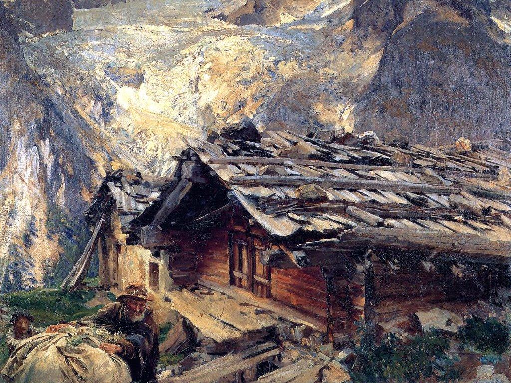 Artistic Wallpaper: Sargent - Brenva Glacier