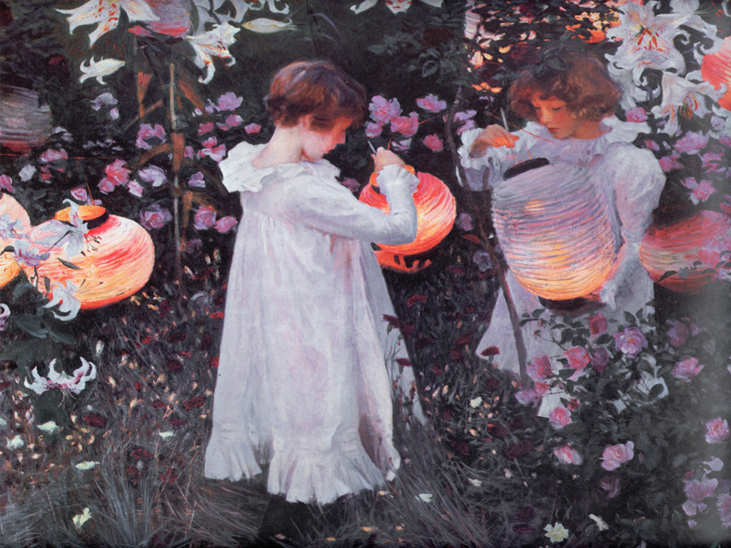 Artistic Wallpaper: Sargent - Carnation, Lily, Lily, Rose
