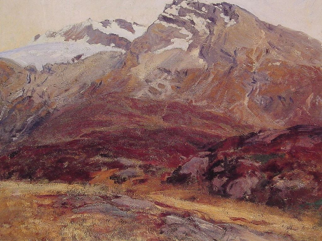 Artistic Wallpaper: Sargent - Coming Down from Mont Blanc