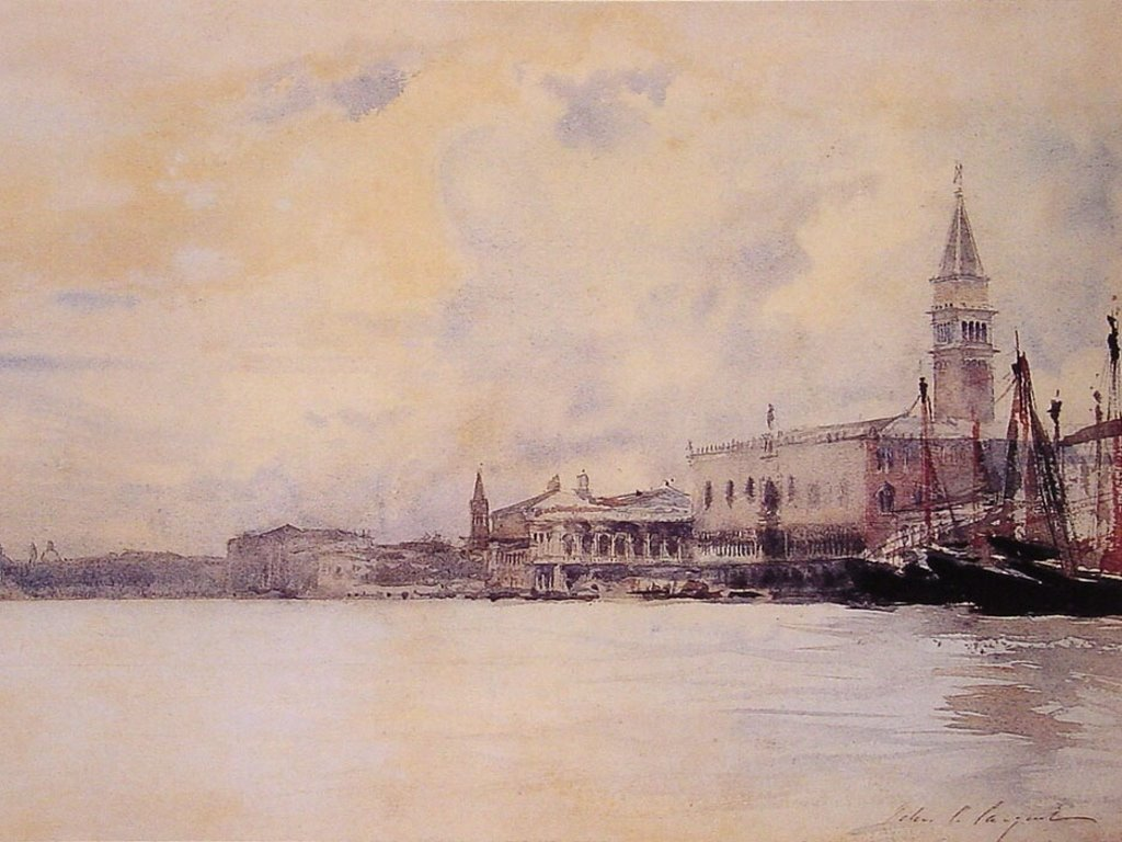 Artistic Wallpaper: Sargent - Entrance to the Grand Canal