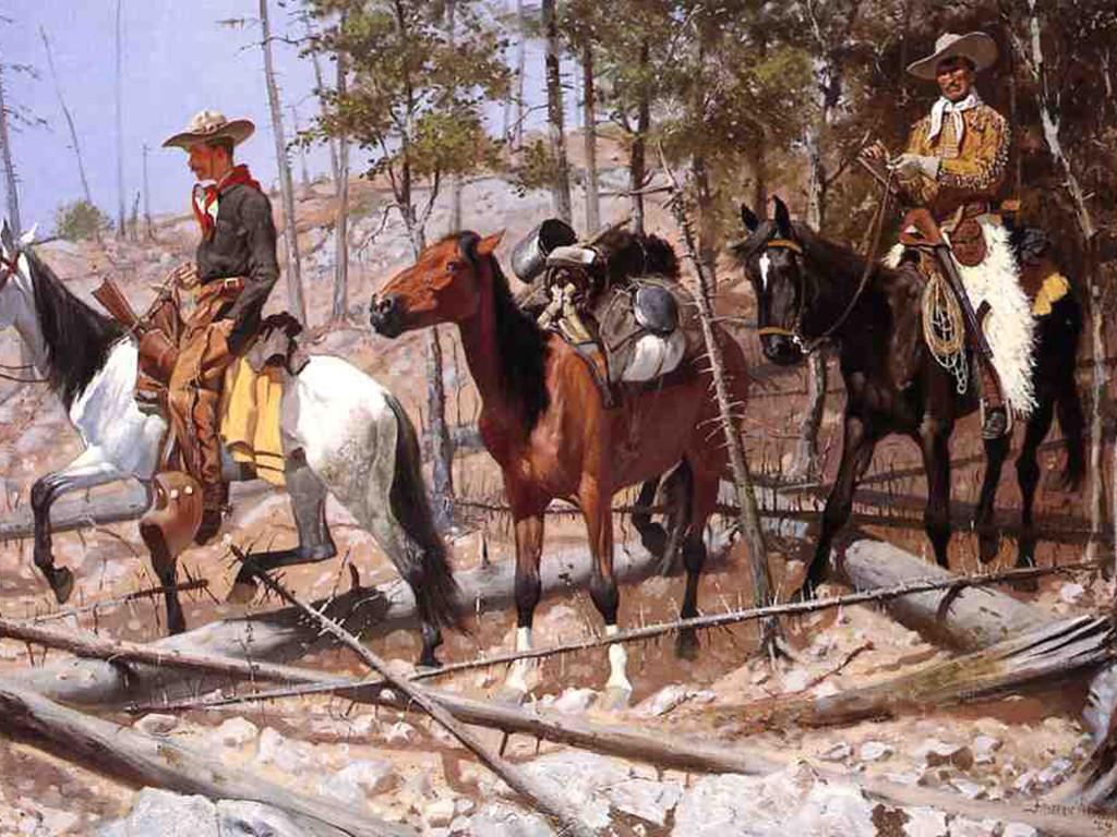 Artistic Wallpaper: Sargent - Prospecting for Cattle Range