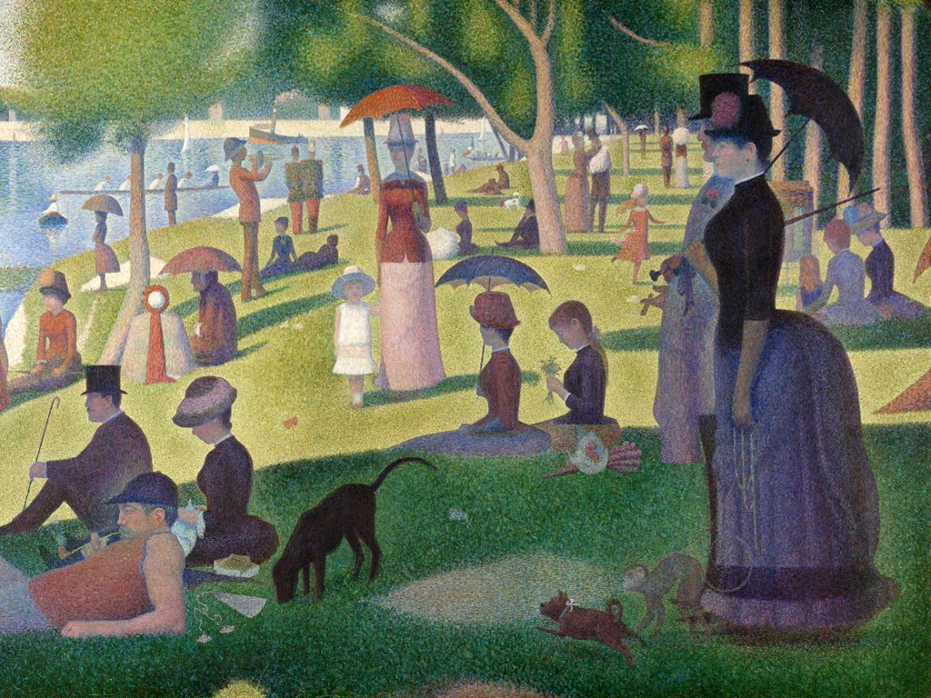 Artistic Wallpaper: Seurat - A Sunday on La Grande Jatte