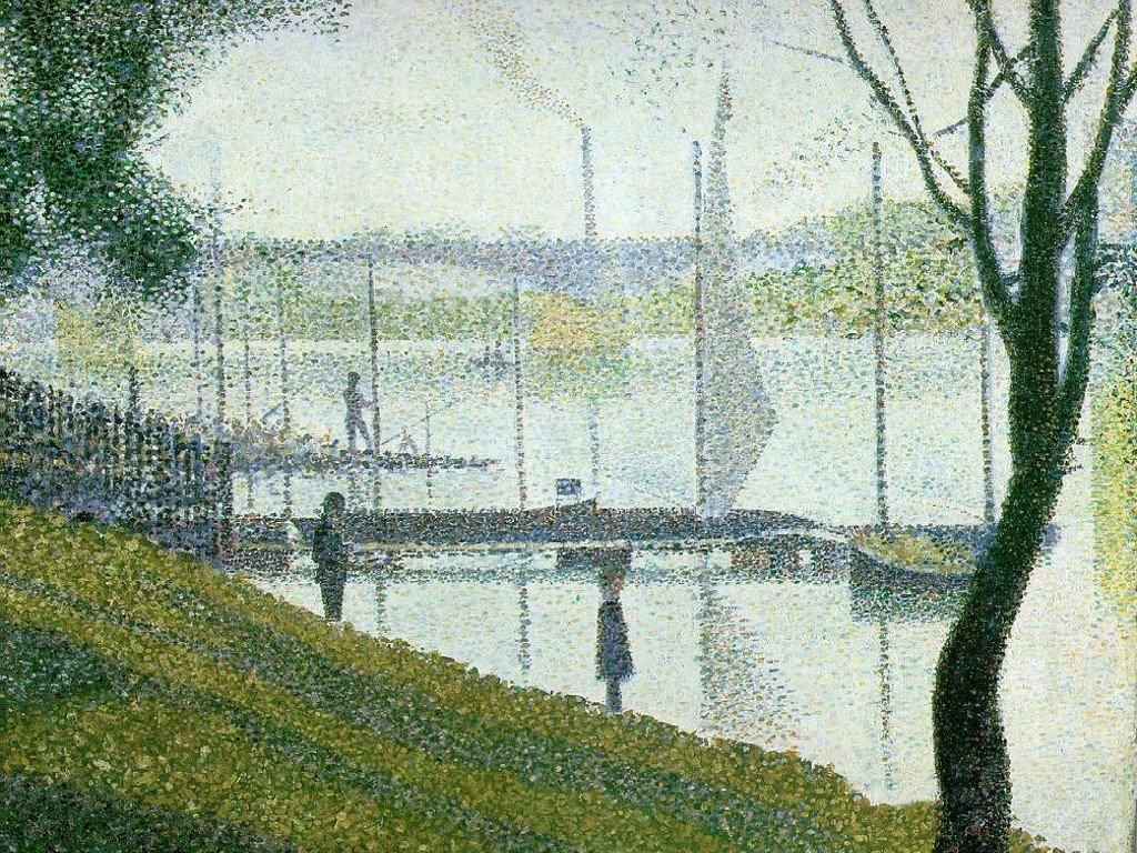 Artistic Wallpaper: Seurat - Le Pont de Courbevoie