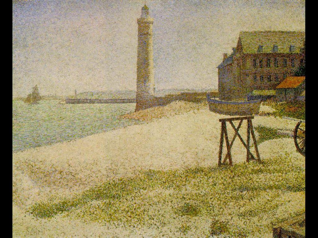 Artistic Wallpaper: Seurat - The Lighthouse at Honfleur