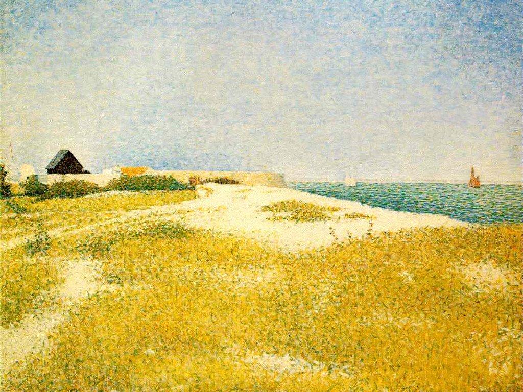 Artistic Wallpaper: Seurat - View of Fort Samson, Grandcamp