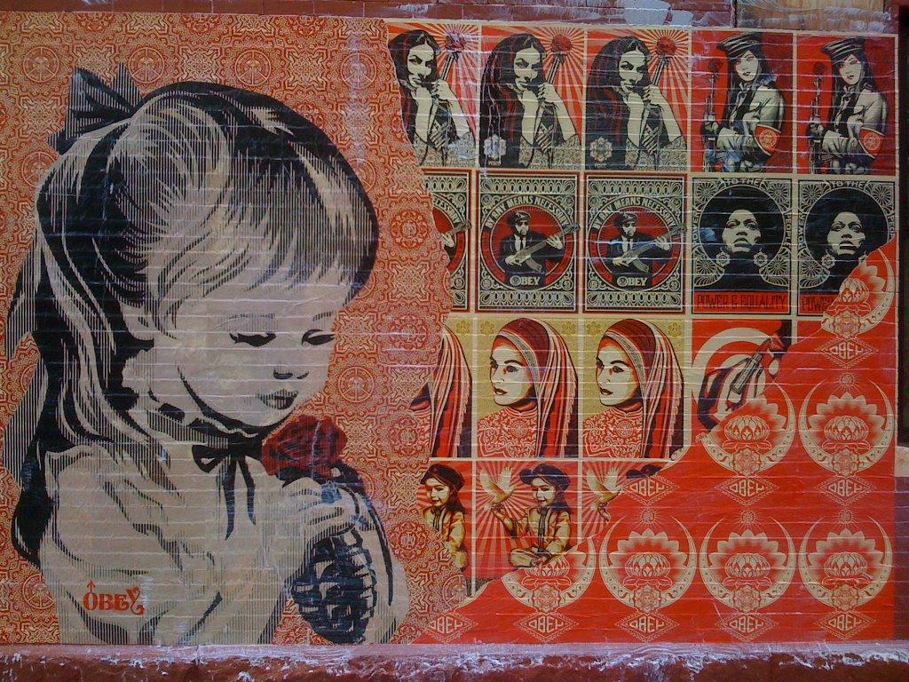 Artistic Wallpaper: Shepard Fairey