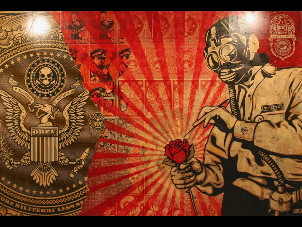 Artistic Wallpaper: Shepard Fairey - Street Art
