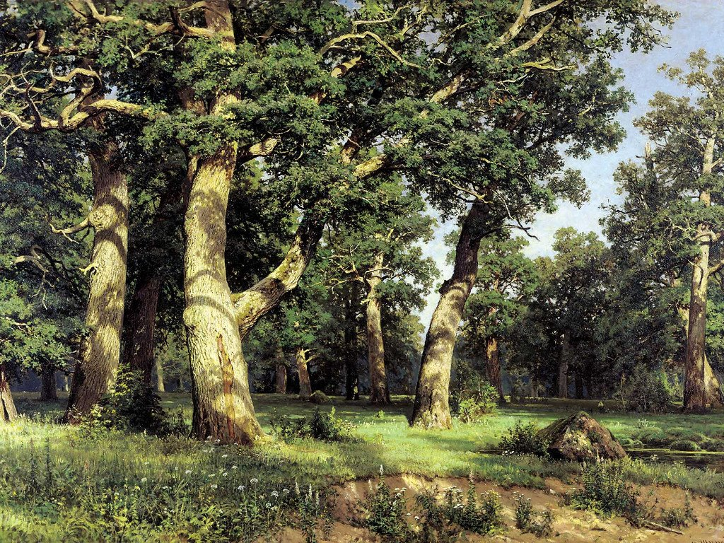 Artistic Wallpaper: Shishkin - Oaks Grove