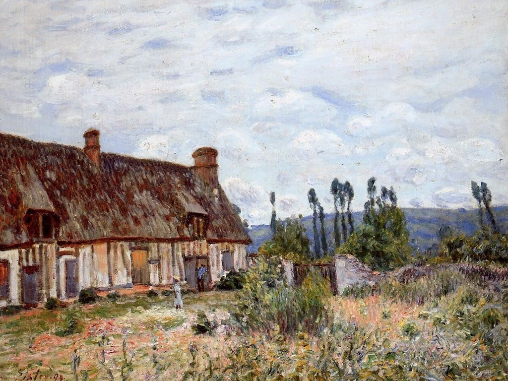 Artistic Wallpaper: Sisley - Abandoned Cottage