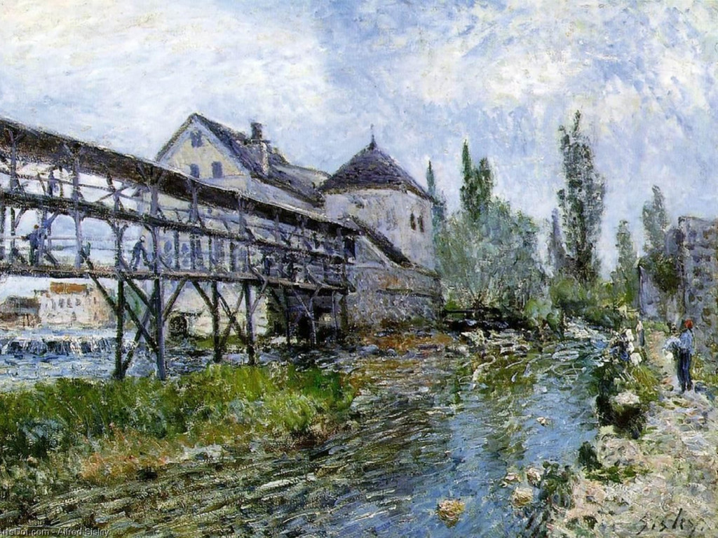 Artistic Wallpaper: Sisley - Mill