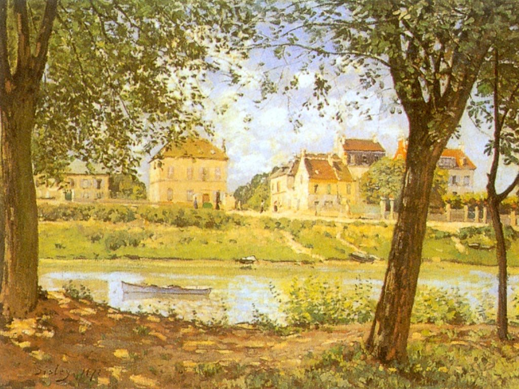 Artistic Wallpaper: Sisley - Villeneuve-la-Garenne sur Seine