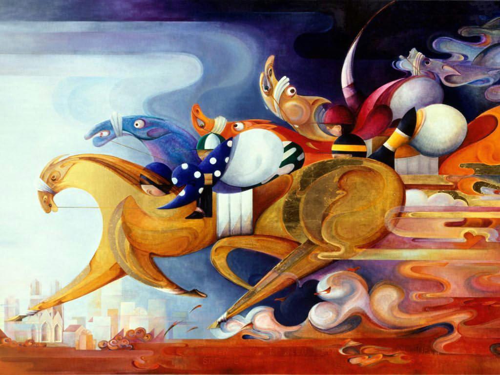 Artistic Wallpaper: Susanne Schuenke - The Race Must Go On