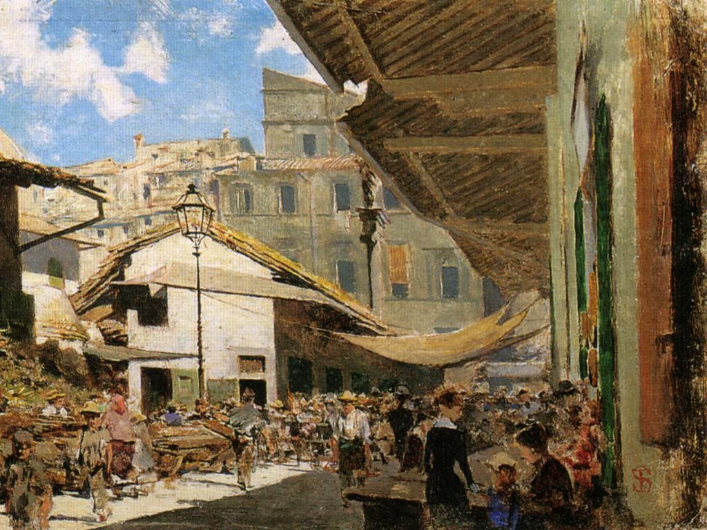 Artistic Wallpaper: Telemaco - Merchato Vecchio a Firenze