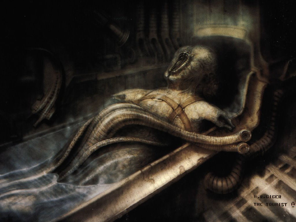 Artistic Wallpaper: Giger - The Tourist IV