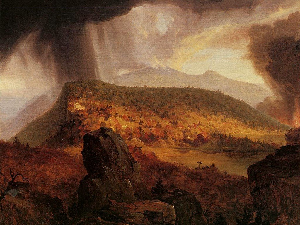 Artistic Wallpaper: Thomas Cole - Catskill Mountain House