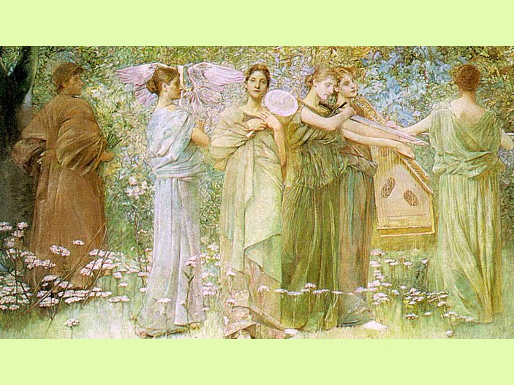 Artistic Wallpaper: Thomas Dewing - The Days
