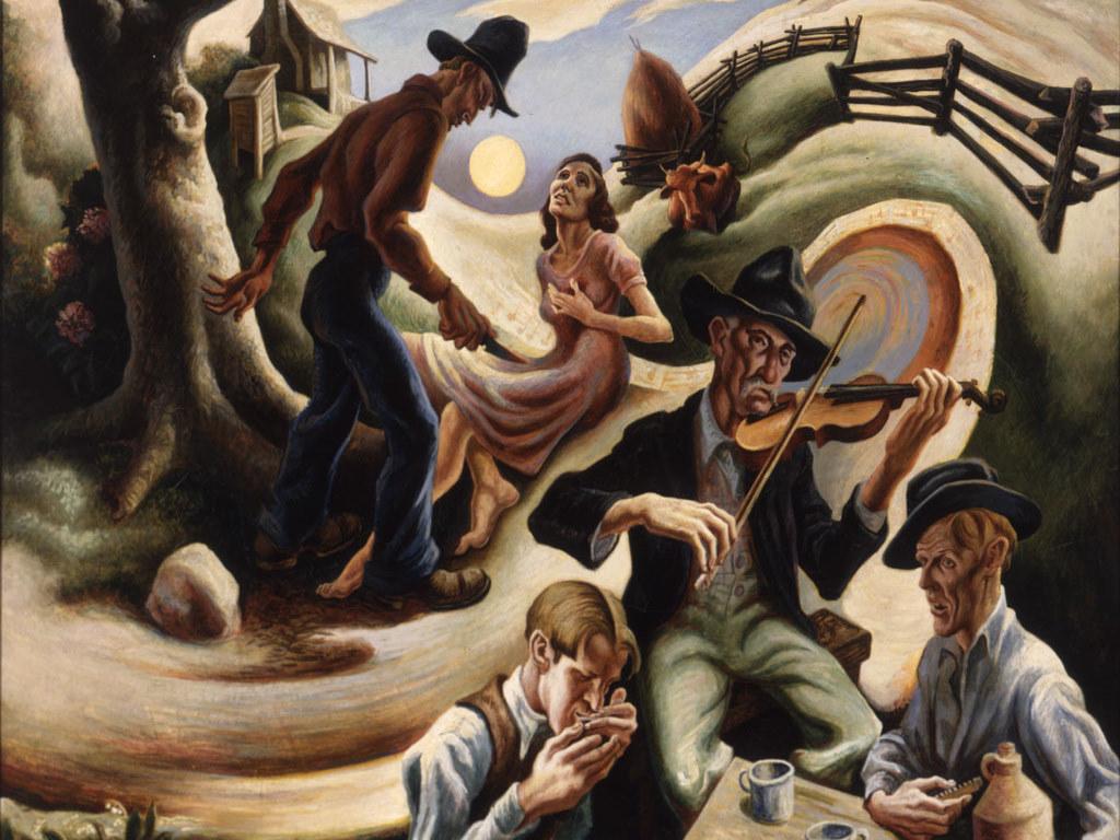 Artistic Wallpaper: Thomas Hart Benton - The Ballad of the Jealous Lover of Lone Green Valley