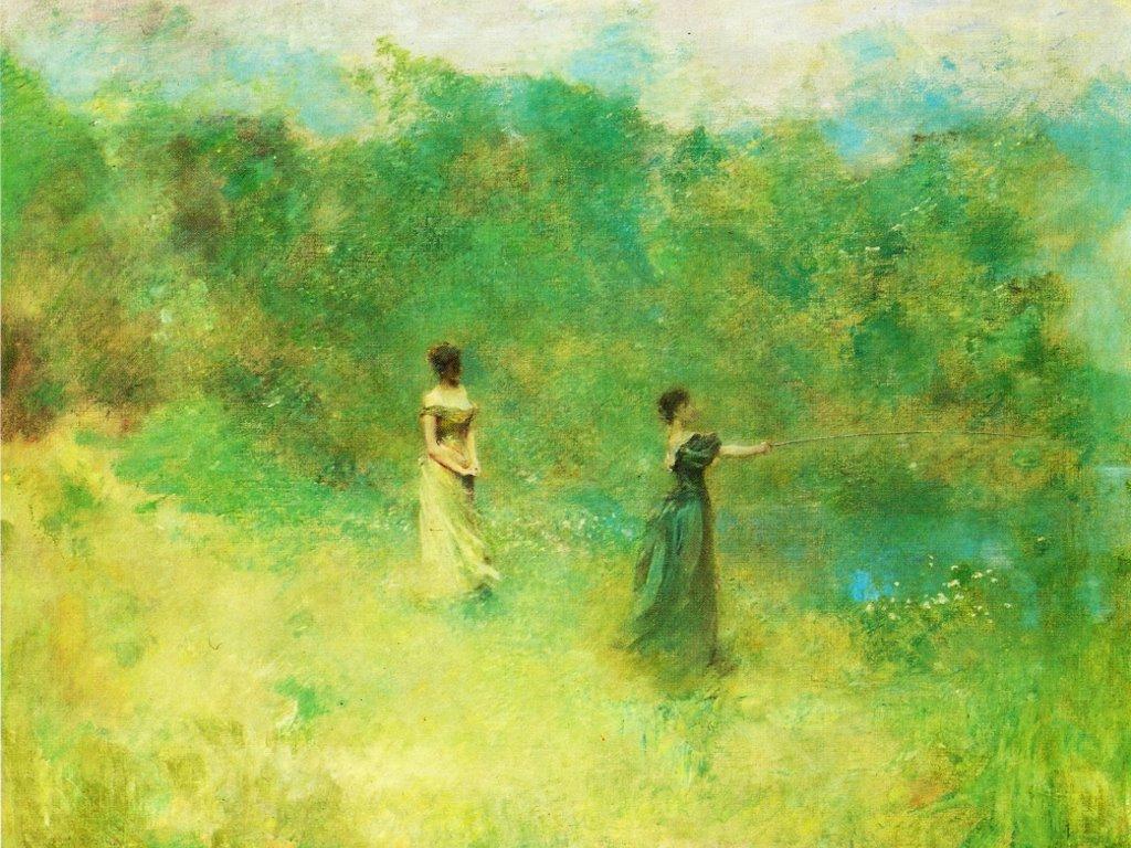 Artistic Wallpaper: Thomas Wilmer Dewing - Summer