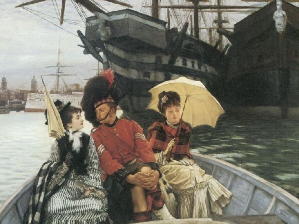 Artistic Wallpaper: Tissot - Porstmouth Dockyard