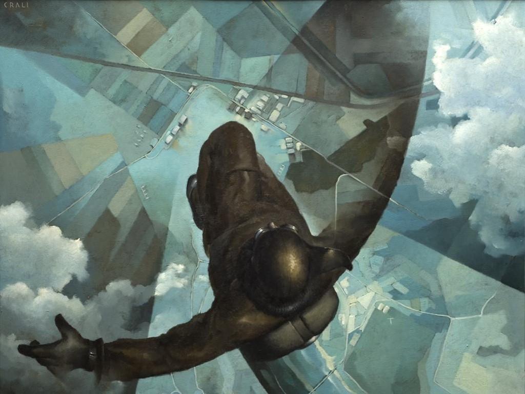 Artistic Wallpaper: Tullio Crali - Before the Parachutes Open