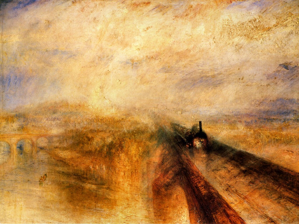 Artistic Wallpaper: Turner - Rain Steam and Speed