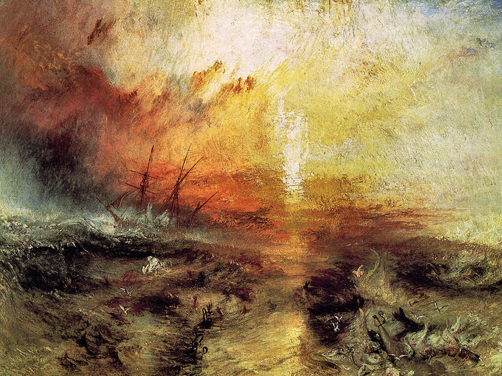 Artistic Wallpaper: Turner - Slavers Throwing Overboard the Dead and Dyings