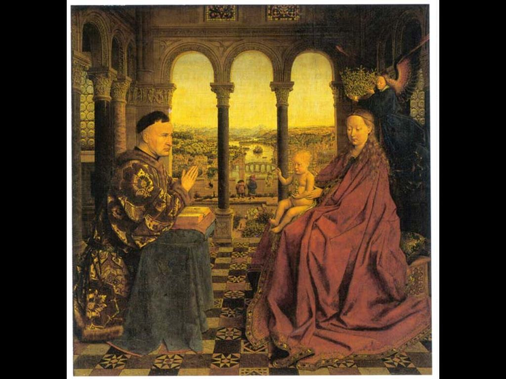 Artistic Wallpaper: Van Eyck - The Virgin of Chancellor Rolin