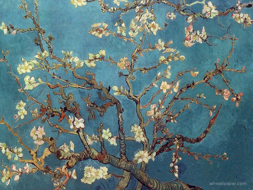Artistic Wallpaper: Van Gogh - Almond Branches in Bloom